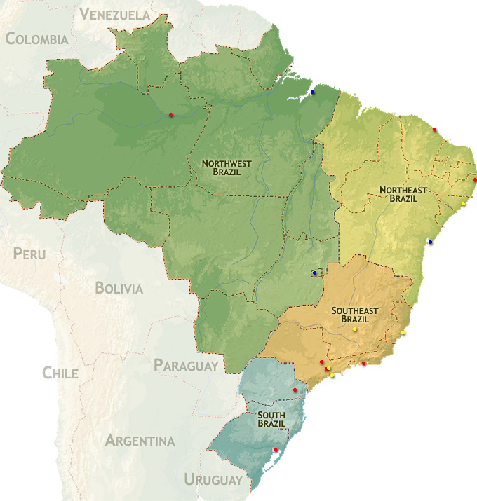 Regional map for the São Paulo Brazil Temple ...
