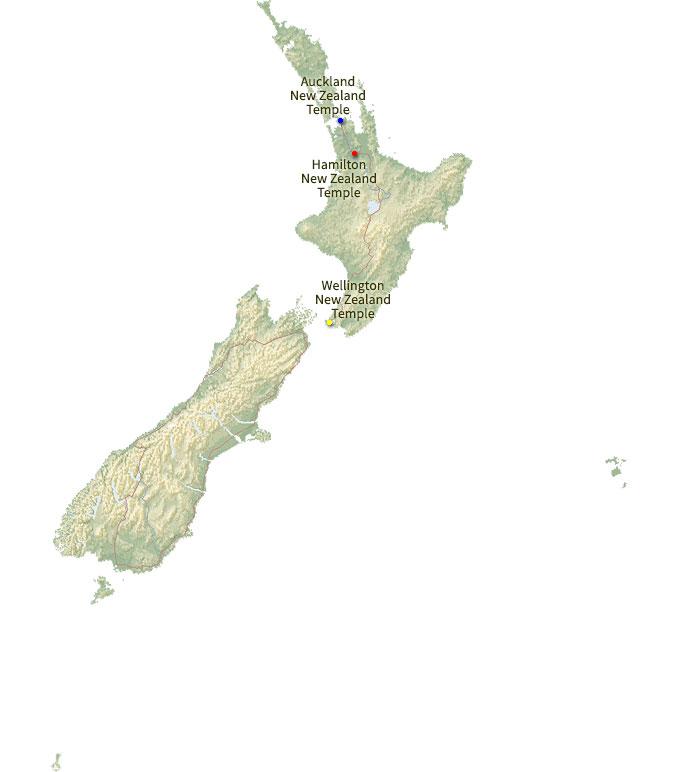 Hamilton Map New Zealand.Regional Map For The Hamilton New Zealand Temple